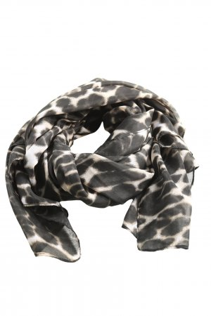 MNG Shoulder Scarf natural white-black allover print casual look