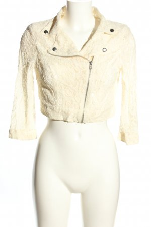 MNG Shirtjacke creme Blumenmuster Casual-Look