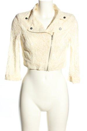 MNG Giacca-camicia crema motivo floreale stile casual