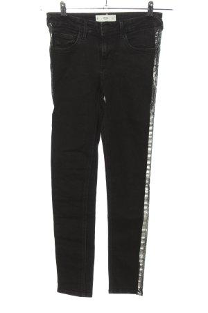 MNG Slim Jeans schwarz-silberfarben Casual-Look