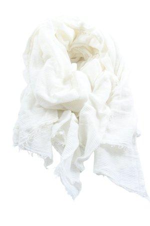 MNG Chal veraniego blanco estampado a rayas elegante