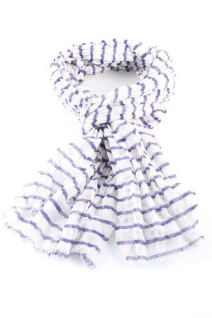 MNG Sommerschal lila-weiß Streifenmuster Casual-Look