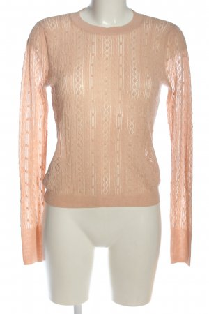 MNG Strickpullover nude Allover-Druck Casual-Look