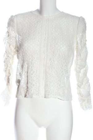 MNG Spitzenbluse weiß Elegant