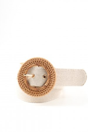 MNG Fabric Belt white-brown casual look