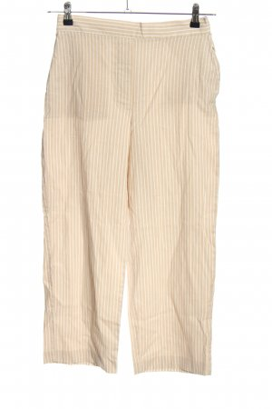 MNG Stoffhose creme-weiß Streifenmuster Casual-Look