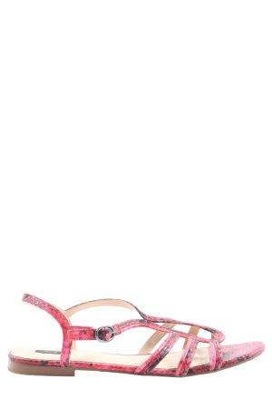 MNG Sandały plażowe różowy Zwierzęcy wzór W stylu casual
