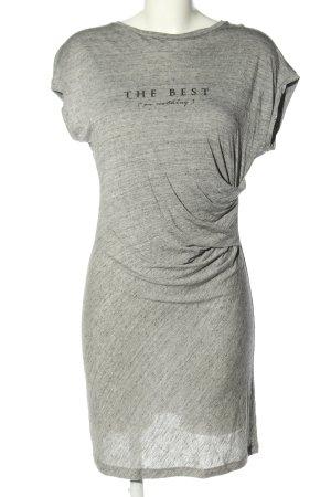 MNG Robe stretch gris clair-noir moucheté style décontracté