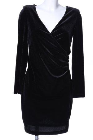 MNG Vestido elástico negro elegante