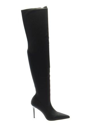 MNG Botas elásticas negro elegante
