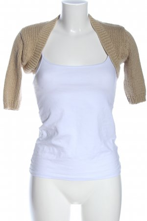 MNG Knitted Bolero natural white cable stitch casual look