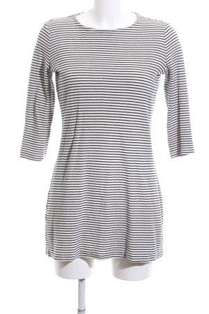 MNG Strickkleid weiß-schwarz Streifenmuster Casual-Look