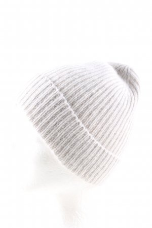 MNG Knitted Hat natural white cable stitch casual look