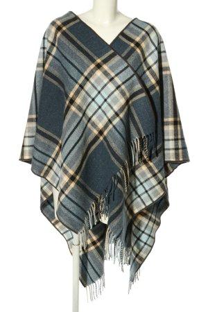MNG Poncho en tricot motif à carreaux style décontracté