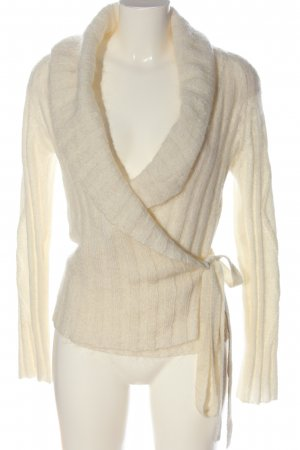 MNG Strickpullover creme Streifenmuster Casual-Look