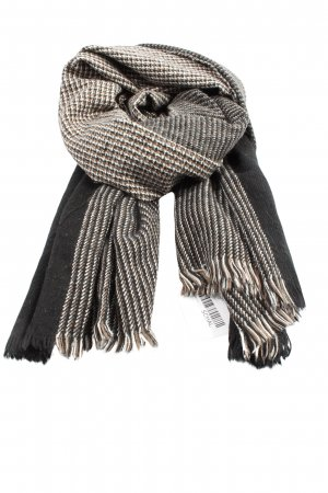 MNG Knitted Scarf black-natural white flecked casual look