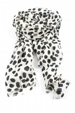MNG Knitted Scarf white-black spot pattern casual look