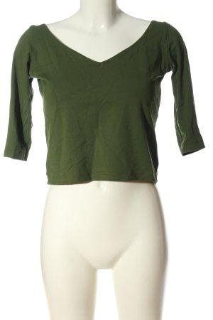 MNG Strickshirt grün Casual-Look