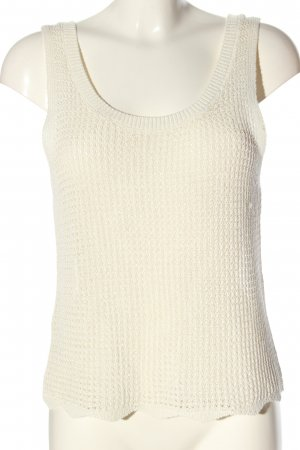 MNG Stricktop wollweiß Zopfmuster Casual-Look