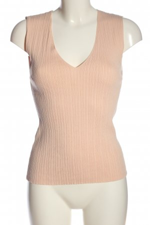 MNG Knitted Top nude striped pattern casual look