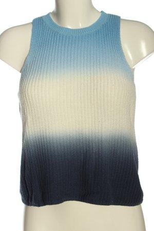 MNG Stricktop blau-weiß Farbverlauf Casual-Look