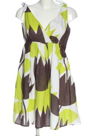 MNG SUIT A-Linien Kleid abstraktes Muster Casual-Look