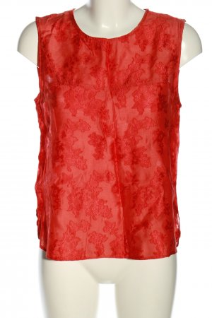 MNG SUIT ärmellose Bluse rot Allover-Druck Casual-Look
