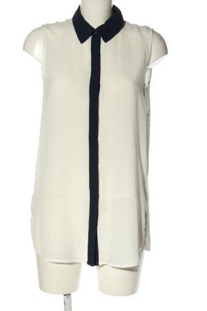 MNG SUIT ärmellose Bluse weiß-schwarz Casual-Look