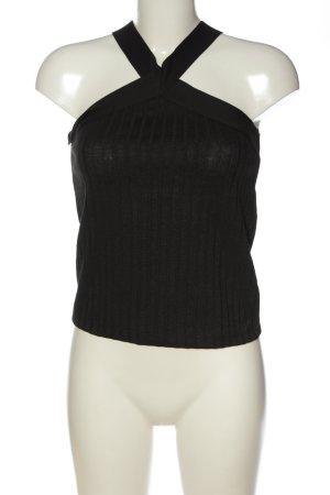 MNG SUIT ärmellose Bluse schwarz Streifenmuster Casual-Look