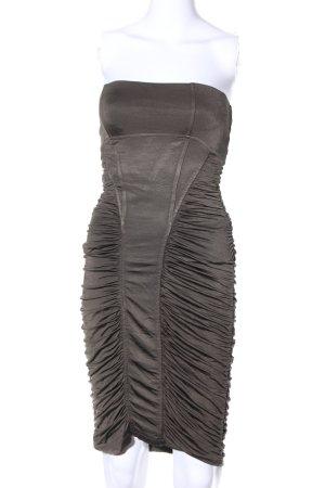 MNG SUIT Bandeau Dress bronze-colored elegant