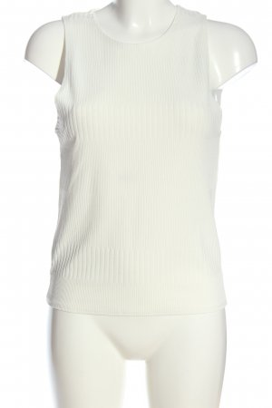 MNG SUIT Top basic bianco stile casual