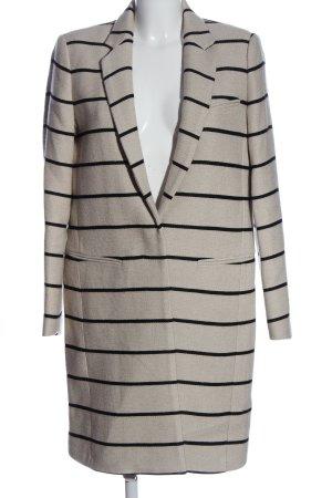 MNG SUIT Manteau long blanc cassé-noir imprimé allover style décontracté