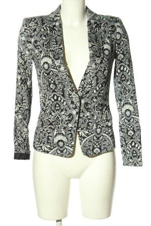 MNG SUIT Blazer Boyfriend negro-blanco estampado con diseño abstracto