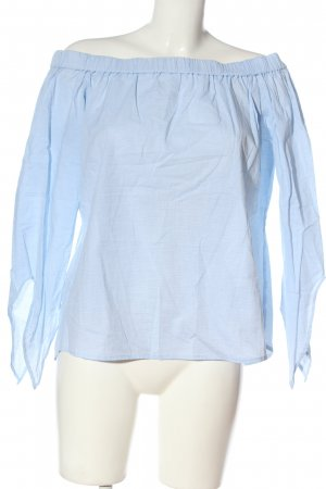 MNG SUIT Blusa tipo Carmen azul look casual