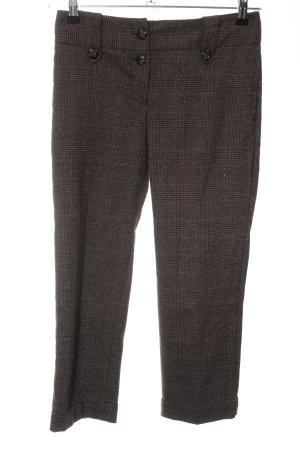 MNG SUIT Pantalon chinos brun imprimé allover style d'affaires