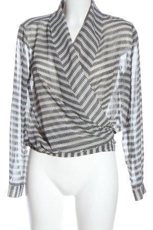 MNG SUIT Hemd-Bluse weiß-schwarz Allover-Druck Casual-Look