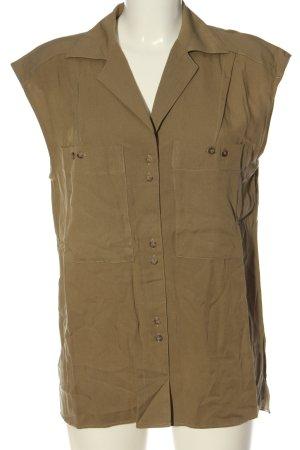 MNG SUIT Hemd-Bluse braun Streifenmuster Casual-Look
