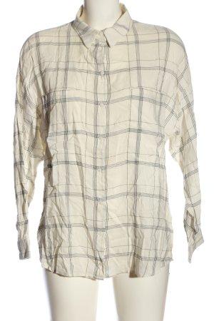 MNG SUIT Chemise de bûcheron blanc cassé-noir motif à carreaux