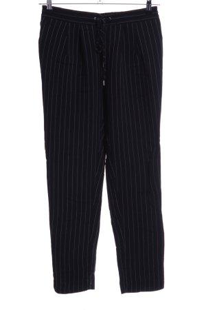 MNG SUIT Pantalón de pinza alto negro-gris claro estampado a rayas