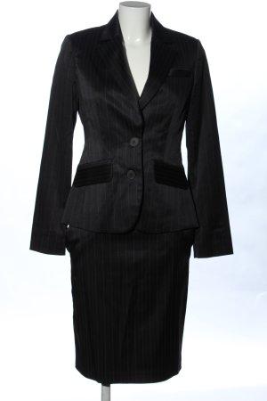 MNG SUIT Damespak zwart gestreept patroon zakelijke stijl