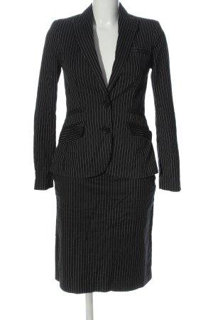 MNG SUIT Kostüm schwarz-weiß Streifenmuster Casual-Look