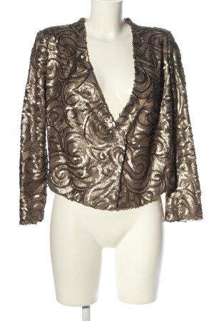 MNG SUIT Kurz-Blazer bronzefarben-goldfarben Allover-Druck Elegant