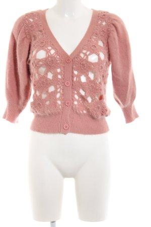 MNG SUIT Cardigan à manches courtes rose style décontracté