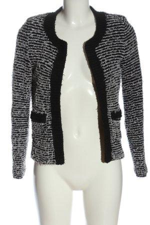 MNG SUIT Kurzjacke schwarz-weiß Streifenmuster Casual-Look