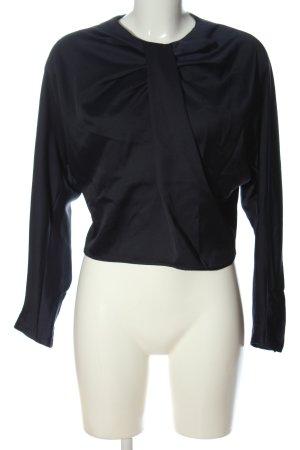 MNG SUIT Langarm-Bluse schwarz Business-Look