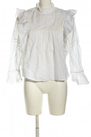MNG SUIT Langarm-Bluse weiß-creme Business-Look