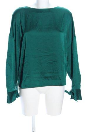 MNG SUIT Langarm-Bluse grün Casual-Look