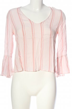 MNG SUIT Langarm-Bluse pink Streifenmuster Casual-Look