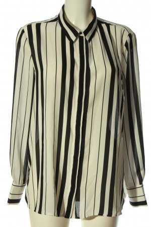 MNG SUIT Camisa de manga larga negro-blanco puro estampado a rayas look casual