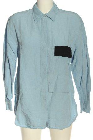 MNG SUIT Camisa de manga larga azul look casual
